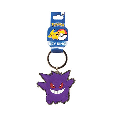 Pokemon Keychain - Gengar Metal Key Ring (Pokemon Gengar Toy)