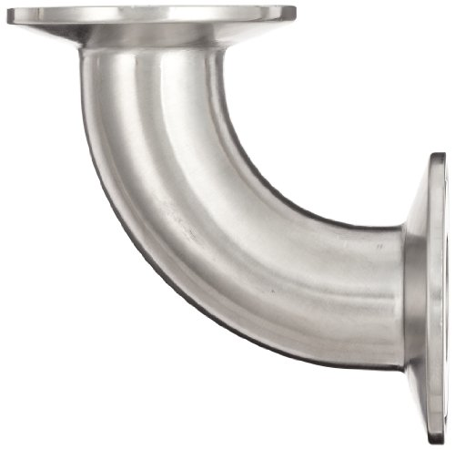 Dixon B2CMP-R100 Stainless Steel 316L Sanitary Fitting, 90 Degree Clamp Elbow, 1'' Tube OD by Dixon Valve & Coupling (Image #1)