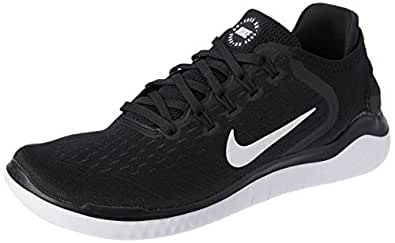 Nike Men's Free RN 2018 Running Shoes, Black/White, 7 US