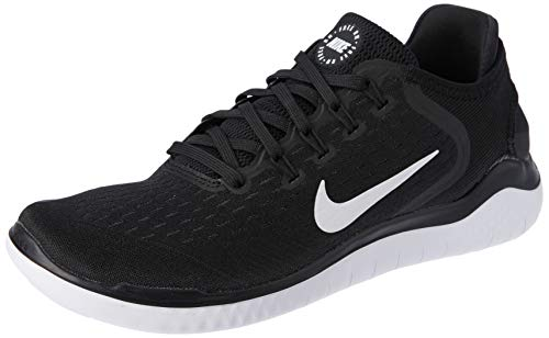 Nike Men's Free RN 2018 Nylon Running Shoes 10 Black/White