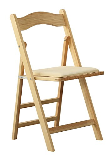 Orolay Wood Folding Chairs Dinning Chair Office Chair (Natural Wood Folding Chair)