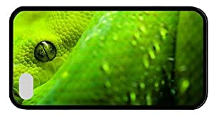 Hipster cute iPhone 4 covers Green Snake Look TPU Black for Apple iPhone 4/4S