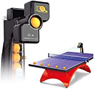 Table Tennis Ball Machine with Belt Net Ping Pong Robot Multi-Rotation Multi-Drop Automatic Training 9 Spin Ba