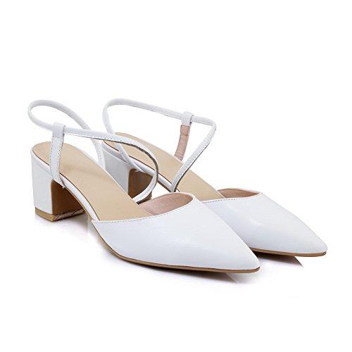 BalaMasa Womens Dance-Ballroom Waterproof Casual Urethane Sandals ASL05217 White dHkWgB
