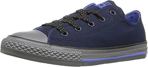 d3f87e4908a8b2 Galleon - Converse Kid s Chuck Taylor All Star Ox Fashion Sneaker Shoe -  Obsidian Oxygen Blue Thunder - Boys   Girls - 2