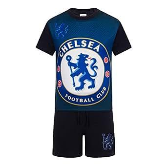 Chelsea FC - Pijama corto para niño - Producto oficial - Azul - Azul marino - 2-3 años