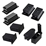 Timiy 4 Types 8pcs Black Plastic 9v Battery