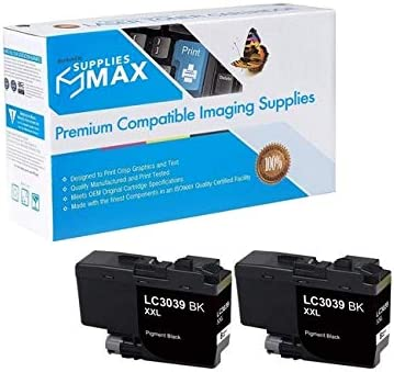 2//PK-6000 Page Yield LC-3239XXLBKBP2 SuppliesMAX Compatible Replacement for Brother HL-6000//MFC-J5845//J5945//J6545//J6945DW Black Ultra High Yield Inkjet