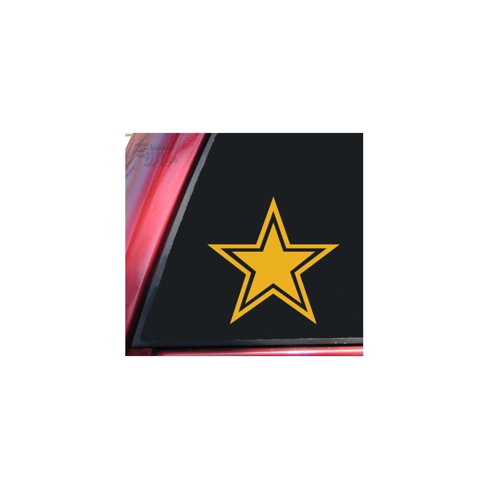 Star With Outline Mustard Vinyl Decal Sticker
