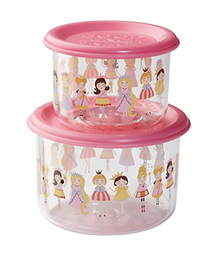 Sugarbooger Good Lunch Snack Containers Small Set-of-Two, Princess (Sugarbooger Snack Containers)