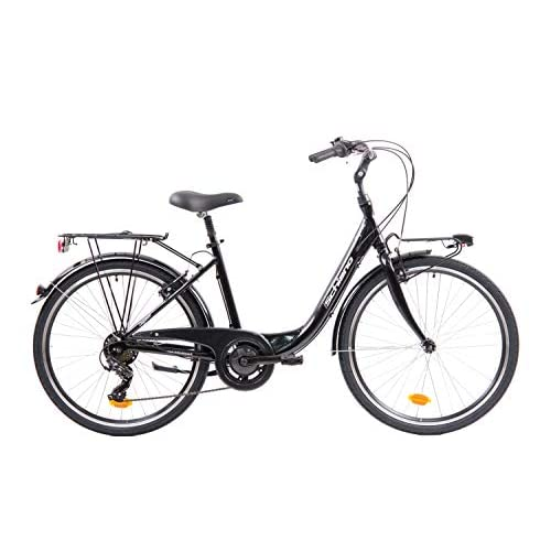 F.lli Schiano Elegance Bicicleta, Women's, Negro-Blanco, 26 '' a buen precio