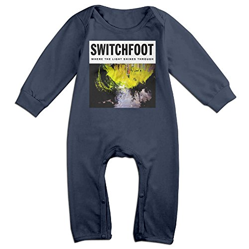 SWITCHFOOT Baby Personality Triangle Romper Bodysuit Jumpsuit Onesie Navy (City Of Irving Texas)