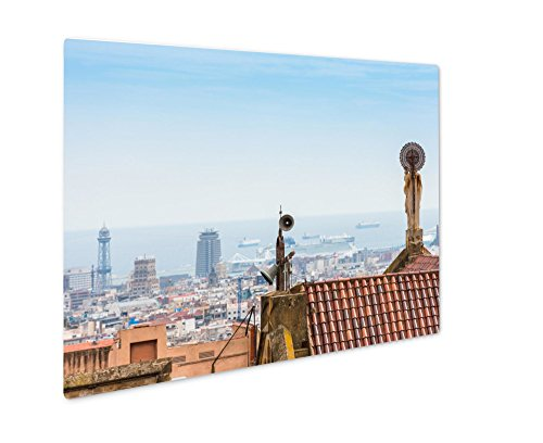 Ashley Giclee Metal Panel Print, Buildings Roofs In Barcelona Spain, 16x20 by Ashley Giclee