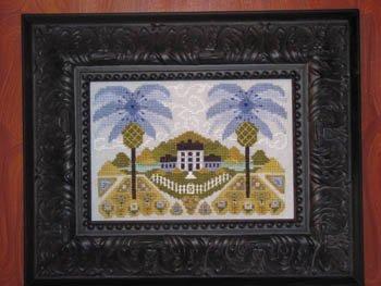 Blue Hawaiian Garden Cross Stitch Chart by By - Hawaiian Cross Stitch