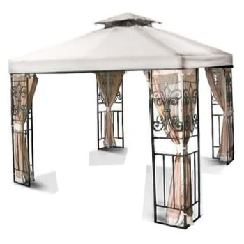 New 10u0027x10u0027 Two-Tiered Replacement Canopy Top Patio Garden Gazebo Shade- White  sc 1 st  Amazon.com & Amazon.com : 10u0027 X 10u0027 Ft Garden Gazebo Replacement Canopy Top Red ...
