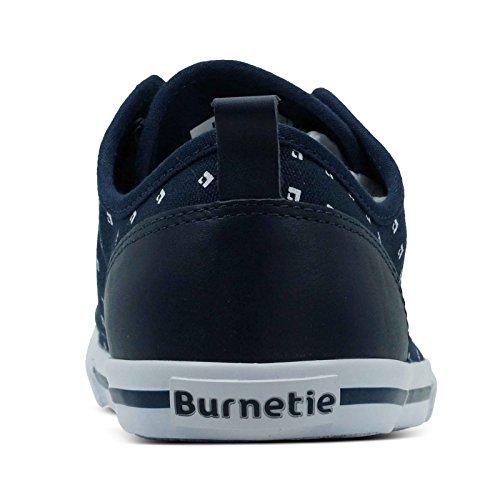 Burnetie Damesschouder Navy Vintage Sneaker