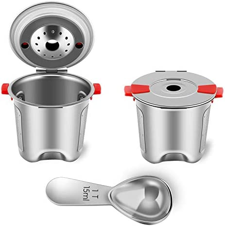 Reusable Okay Cups Fit for Keurig 2.0 and 1.0 Coffee Maker - Stainless Steel Okay Cup Reusable - Universal Refillable Okay Cup Filter BPA FREE (2 PACK)