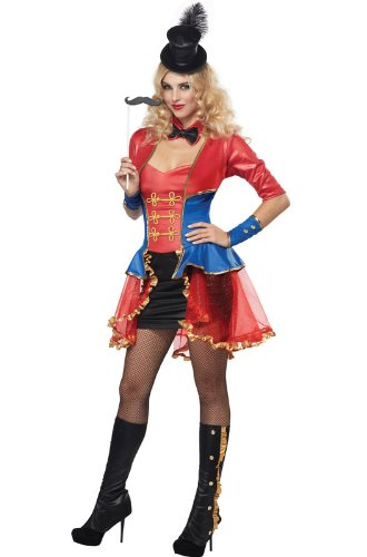 [California Costumes Women's Eye Candy - Ringmaster Adult, Red/Blue, Large] (Candy Woman Costumes)