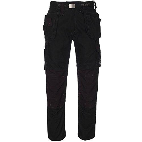 Muchos Con Negro Lindos Longitud Pierna Pantalón Frontal Line nbsp;cm Pantalones 90 Service Mascot® Bolsillos wq0AYSw