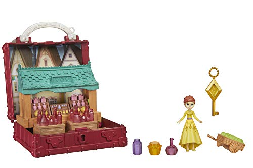 Disney Frozen Pop Adventures Village Set Pop-Up Playset with Handle, Including Anna Small Doll Inspired by The Frozen 2 Movie - Toy for Kids Ages 3 & Up