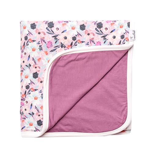 Large Premium Knit Baby 3 Layer Stretchy Quilt Blanket Floral