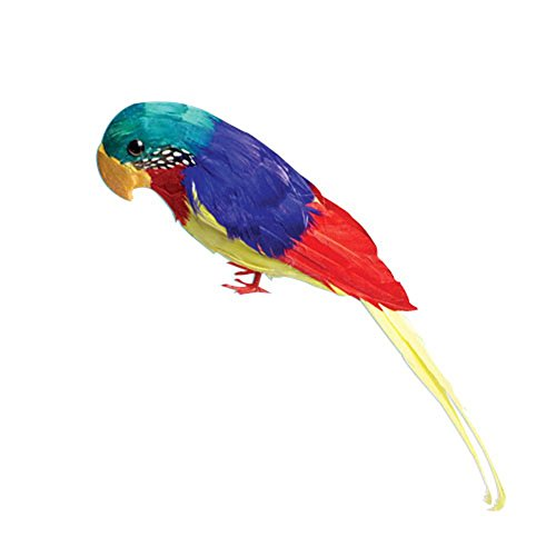 U.S Toy Company Feather Parrot Decoration, 12-Inch