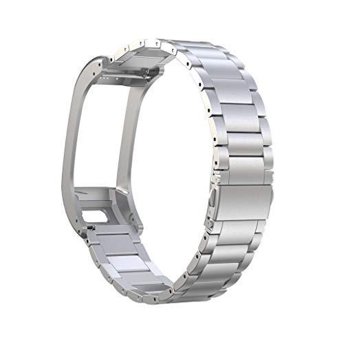 Armband für Garmin VIVOsmart HR+, BJJH Solid Edelstahl Zubehör Band Ersetzerband Uhrenarmband Für Garmin VIVOsmart HR…
