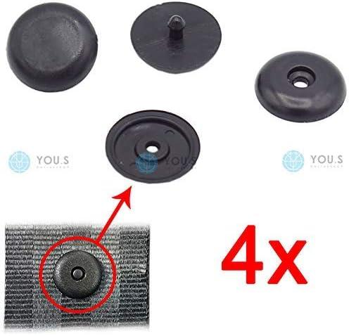 4 x YOU.S Original Gurtstopper Sicherheitsgurt Clip Universal Schwarz /Ø 16 mm