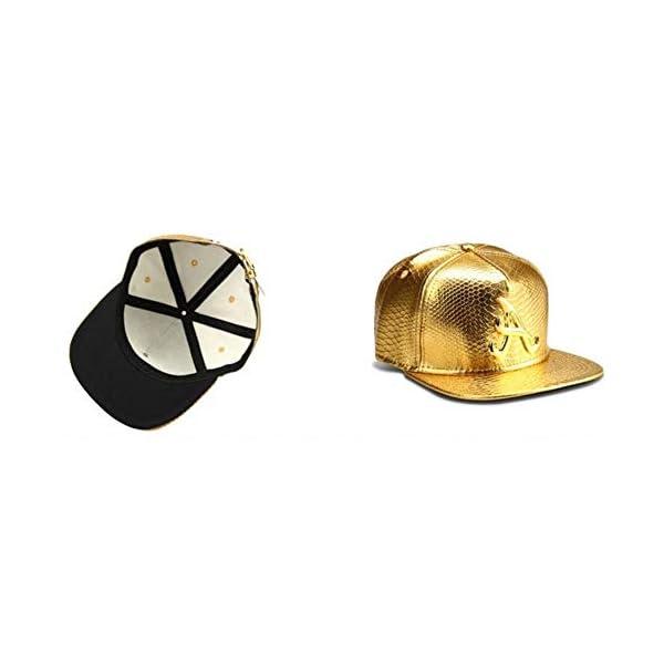 MADY 18K Gold Plated VIP/A/Dollar Grain Baseball Cap Men Women Adjustable Strapback 3