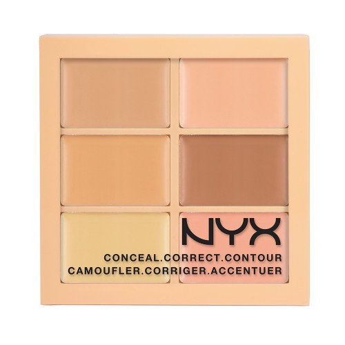 NYX PROFESSIONAL MAKEUP Conceal, Correct, Contour Palette, Light, 0.05 Ounce