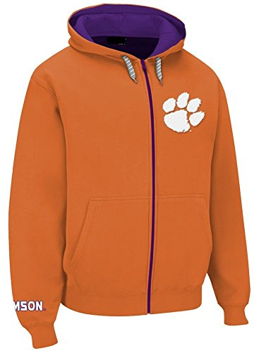 Elite Fan Shop Clemson Tigers Full Zip Hoodie Orange - XL