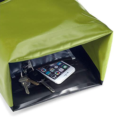 Earth Pak Waterproof Backpack with IPX8 Waterproof Phone Case, Green