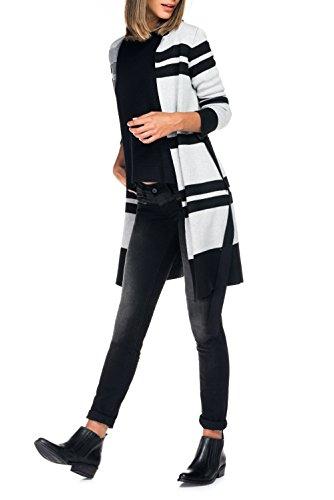 Salsa - Manteau long à rayures avec ceinture - Femme