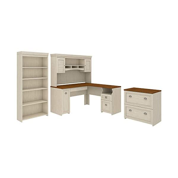 Bush Furniture Fairview L Shaped Desk with Hutch
