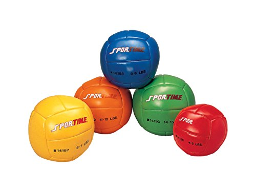 Sportime Medicine Ball - 11 inch - 14 to 15 lbs - Green