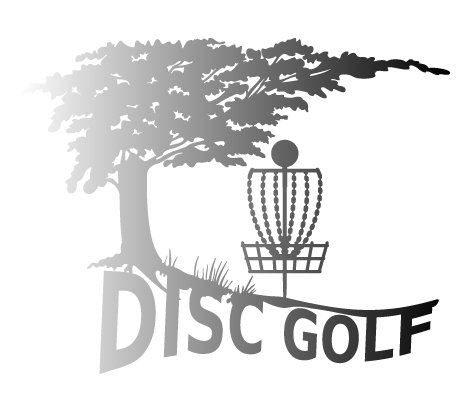 (Nature Tree Disc Golf Decal with Mach 3 type Basket Detail – Silver)