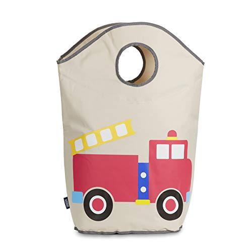 Wildkin Laundry Hamper, Features Mesh Bottom and Two Top Carrying Handles, Perfect for Promoting Organization, Coordinates with Other Room Décor, Olive Kids Design – Fire Truck