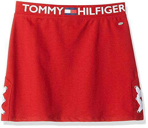 Tommy Hilfiger Big Girl's Big Girls' Solid Skirt, Skirt, side lace red, S7 (Tommy Hilfiger Sweater Red Women)