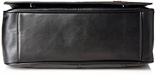 Trussardi Jeans Messenger Patta, Maine, Nero, 36 cm