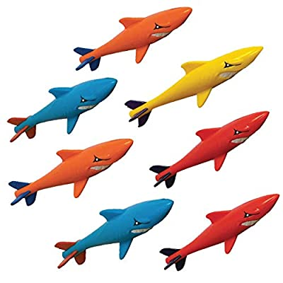 Prime Time Toys 7-Pack Sharkpedo Diving Masters Underwater Gliders - Pool Diving Toy - Assorted Colors (8413-7): Toys & Games