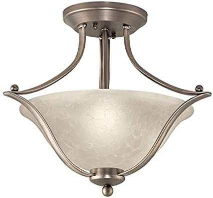Portfolio 17 32 In Brushed Nickel Traditional Semi Flush Mount Light Close To Ceiling Light Fixtures Amazon Com