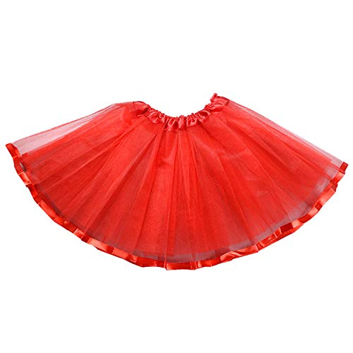 storeofbaby Toddler Tutu Skirt for Halloween, Dress Up, Photo Shot Petticoat Costume Red ()