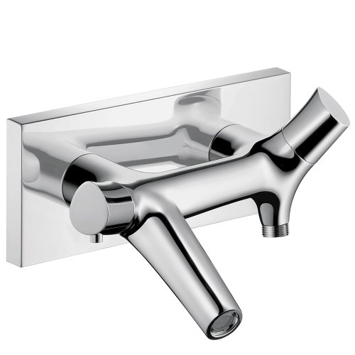 AXOR 12410001 Starck Organic Thermostatic Tub Filler Wall Mounted, Chrome Axor Starck Two Handle