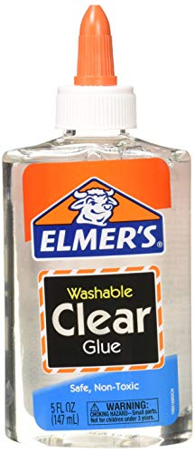 - Elmer's E305  Washable School Glue, 5 oz Bottle, 4 Pack, Clear