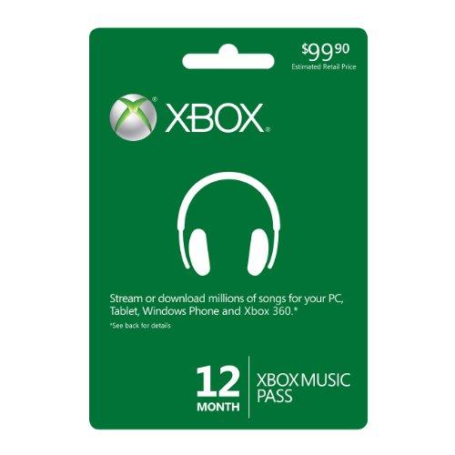 12 Month Xbox Music Pass