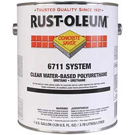 Water Based Polyurethane Floor - Rust-Oleum 6711 System <250 Voc Clear Water-Based Polyurethane Floor Coating Gallon Can - Lot of 2