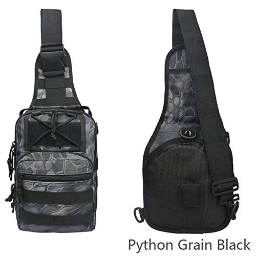 Tactical Sling Bag -Waterproof Sport Bags Military Tactical Bag Camouflage Small Chest Bag for Cycling Walking Dog Hiking Boys Girls Men Women (Carrier Dog Camouflage)