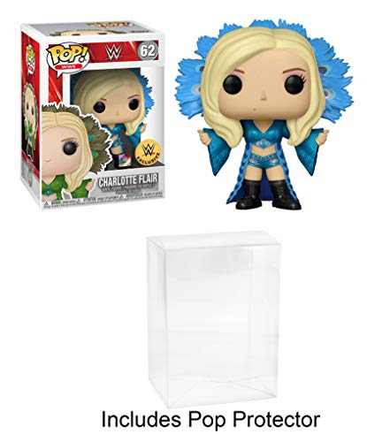 Funko POP! WWE Charlotte Flair Blue Robe Exclusive with Pop Protector