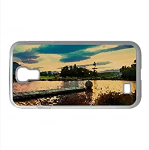 Golden Sunset Reflection Watercolor style Cover Samsung Galaxy S4 I9500 Case (New Zealand Watercolor style Cover Samsung Galaxy S4 I9500 Case)