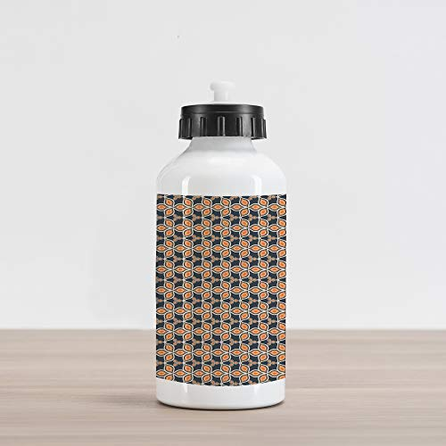 Mosaic Harvest (Ambesonne Leaves Aluminum Water Bottle, Old Fashioned Autumn Leaves Linked Forming A Mosaic Unusual Harvest Classic Motif, Aluminum Insulated Spill-Proof Travel Sports Water Bottle, Multicolor)